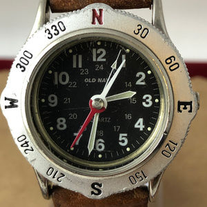 Vintage Rare Old Navy Wrist Watch with Compass